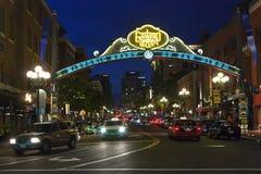 San Diego at night Stock Image