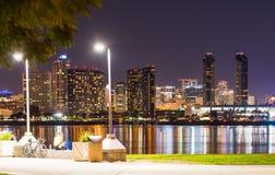 San Diego by night Royalty Free Stock Photos