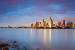 San Diego at night Stock Photos