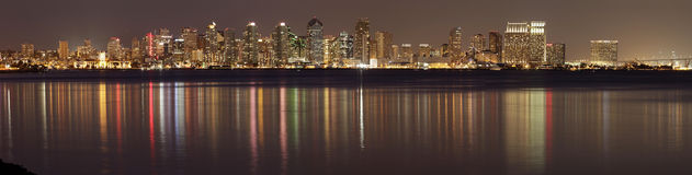 San Diego at Night Royalty Free Stock Images