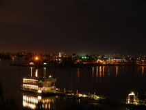 San Diego night scene. Night view over Mission Bay in San Diego Royalty Free Stock Image