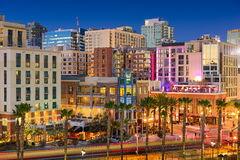 San Diego Nightlife District Royalty Free Stock Images