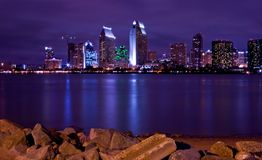 San Diego nightline royalty free stock images