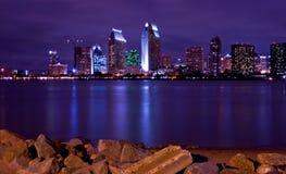 San Diego nightline Royalty Free Stock Images