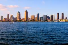 San Diego no por do sol Imagem de Stock