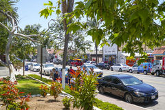 San Diego Old Town - vue de rue - SAN DIEGO - la CALIFORNIE - 21 avril 2017 image stock