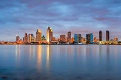 San Diego på natten Fotografering för Bildbyråer