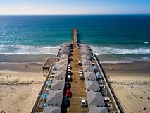 San Diego Pacific beach dock aerial view royalty free stock photography
