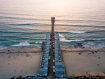San Diego Pacific beach dock aerial view royalty free stock images
