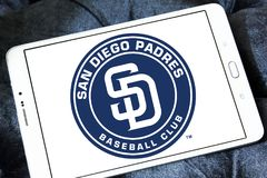 San Diego Padres baseballa klubu logo Zdjęcia Royalty Free