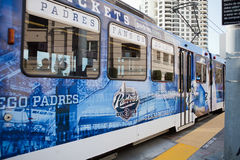 San Diego Padres Trolley Bus Royalty Free Stock Images