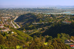 San Diego panoramica, California Fotografie Stock Libere da Diritti