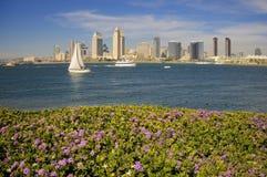 San Diego piena di sole Fotografie Stock Libere da Diritti
