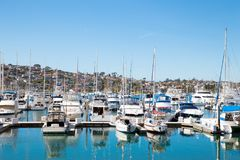San Diego Point Loma Boats royalty free stock photography