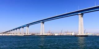 San Diego - ponticello e navi della Marina Militare di Coronado Fotografia Stock Libera da Diritti