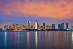 San Diego przy nocą zdjęcie royalty free