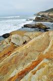 San Diego Rocky Coast, monumento de Cabrillo Fotos de archivo