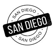 San Diego rubber stamp Royalty Free Stock Photos