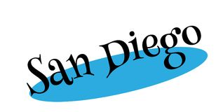 San Diego rubber stamp Royalty Free Stock Photo