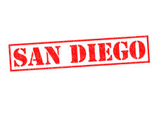 SAN DIEGO. Rubber Stamp over a white background Royalty Free Stock Images