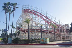 San Diego's Giant Dipper at seaside Belmont Park Royalty Free Stock Photos