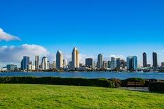 San Diego`s Modern Skyline. San Diego Skyline as seen from the Coronado ferry landing stock photos