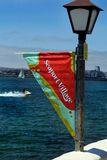 San Diego Seaport Village Banner Royalty Free Stock Photo