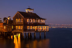 San Diego Seaport Village Sunset foto de stock