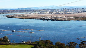 San Diego seen from Point Loma overlook stock footage
