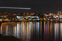 San Diego shoreline at night Royalty Free Stock Photo