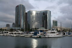 San Diego Sky Line. Picture of San Diego harbour Royalty Free Stock Images