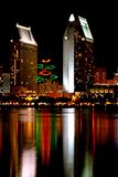 San Diego Sky line at Christmas Royalty Free Stock Images