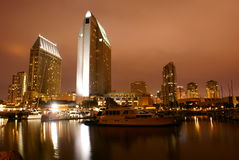 San Diego Skyline. Long Exposure of San Diego Bay Royalty Free Stock Image