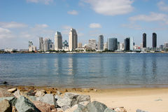 San Diego Skyline. Seeing the skyline from across the San Diego Bay Royalty Free Stock Images