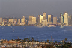 San Diego skyline. And marina royalty free stock images