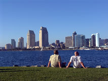 San Diego Skyline. View of San Diego Skyline from Coronado Island, California Stock Photography