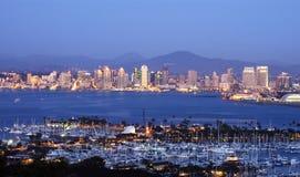 San Diego skyline. Classic view of San Diego skyline stock image