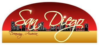 San Diego Skyline Stockbild