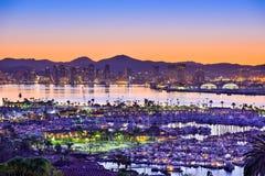 San Diego Skyline stockfotos