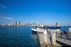 San Diego skyline CA. USA royalty free stock photos