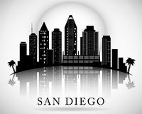 San Diego skyline. City silhouette Stock Photography