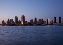 San Diego skyline on clear evening Stock Photography