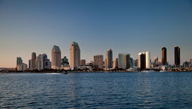 San Diego skyline on clear evening royalty free stock images
