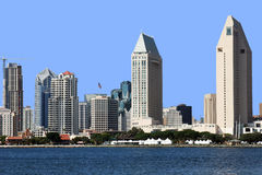 A San Diego skyline close-up. A San Diego skyline with its modern buildings and architecture Stock Photo