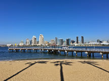 San Diego skyline from the Coronado Ferry Landing Stock Image