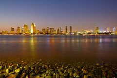 San Diego skyline from Coronado royalty free stock images