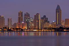 San Diego skyline at daybreak Stock Photography