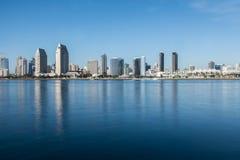 San Diego skyline daytime. Seaport Village and Coronado Island, San Diego royalty free stock photo