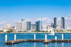 San Diego Skyline de la isla de Coronado Fotos de archivo