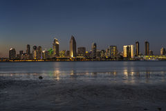San Diego Skyline at Dusk Royalty Free Stock Photos